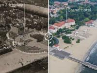 Sopot na zdjęciach archiwalnych i współczesnych z drona