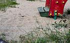 Elektryczny pastuch na dziki przy placu zabaw