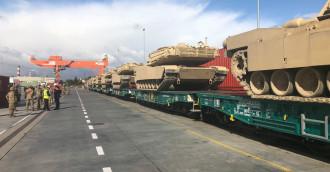 Amerykańskie czołgi w gdyńskim porcie