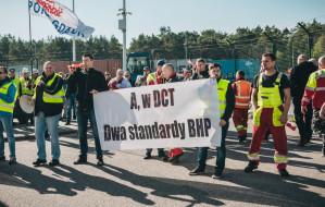 Pracownicy terminalu DCT znów protestują