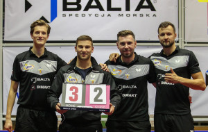 Lotto Superliga tenis stołowy. AZS AWFiS Balta Gdańsk 1 zwycięstwo, 3 porażki