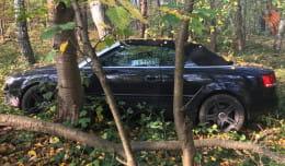 25-latka zostawiła samochód w środku lasu