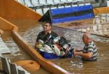 Spar Citylift Girona - Arka Gdynia 70:68 w Eurolidze. Hala w Hiszpanii zalana wodą