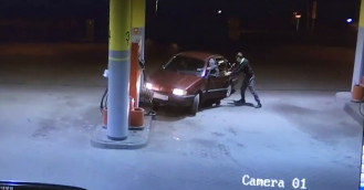 Groteskowa kradzież paliwa na stacji
