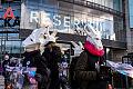 Protestowali przeciwko używaniu kaszmiru przez gdańską firmę odzieżową