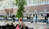 Pomiar temperatury ciała na lotnisku w Gdańsku