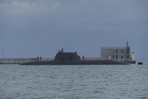 Niemiecki okręt podwodny w porcie w Gdyni