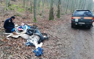 Ustalili osobę, która zaśmieciła las w Gdyni