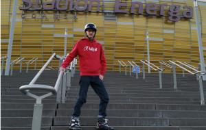 Rusz się! Piotr Bruski i warsztaty rolkarskie na Stadionie Energa Gdańsk