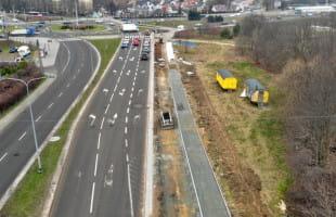 Trwa budowa drogi rowerowej wzdłuż ul. Potokowej