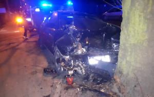 Gdańsk. Rozbili dwa auta, uciekali przed policją