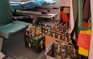Prawie 900 litrów nielegalnego alkoholu pomoże szpitalom i straży pożarnej