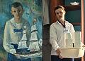 Pracownicy muzeum na słynnych obrazach