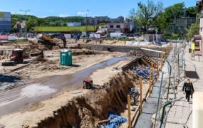Gdynia: trudności pieszych na pl. Dworcowym w Chyloni