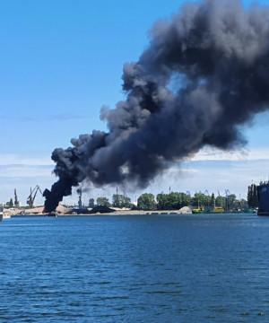 Pożar złomowiska w gdańskim porcie
