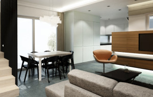 Pokój dzienny i kuchnia pani Klaudii - architekt radzi