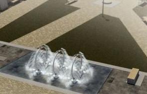 Taka fontanna stanie przy Wielkim Młynie