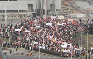 Wielotysięczna manifestacja w śródmieściu Gdańska