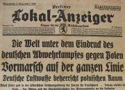Berlińska gazeta o ataku na Polskę trafi do gdańskiego Muzeum II Wojny Światowej