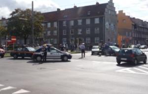 Wypadek na skrzyżowaniu al. Legionów i ul. Kościuszki