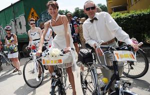 Na rowerach po... obrączki. Rowerowy ślub w Gdańsku