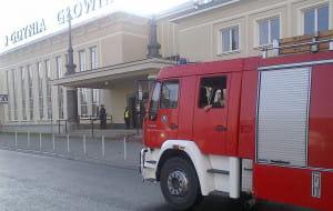 Ćwiczenia służb na dworcu w Gdyni