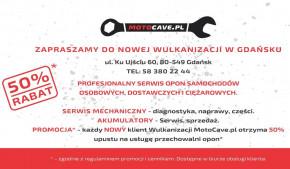 MotoCave.pl Wulkanizacja - 50% upustu na przechowalnię opon dla NOWYCH klientów!