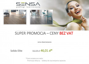 Panele SENSA kolekcja SOLIDO ELITE - 4 dekory w promocji PANELE BEZ VAT