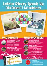 SPEAK UP CAMPS 2019 - Letnie obozy dla dzieci i młodzieży!