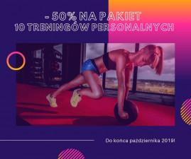 -50% na pakiet 10 treningów personalnych!