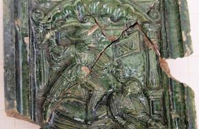 XVI-wieczny kafel zdobiący piec