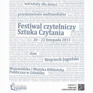 Festiwal Czytelniczy - Sztuka Czytania