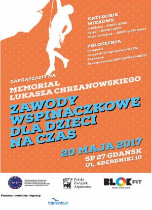 Memoriał Łukasza Chrzanowskiego - Zawody Wspinaczkowe dla dzieci