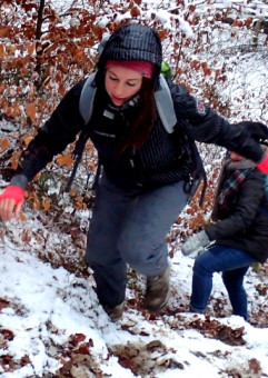 Zimowa wędrówka przez Kaszubskie Góry