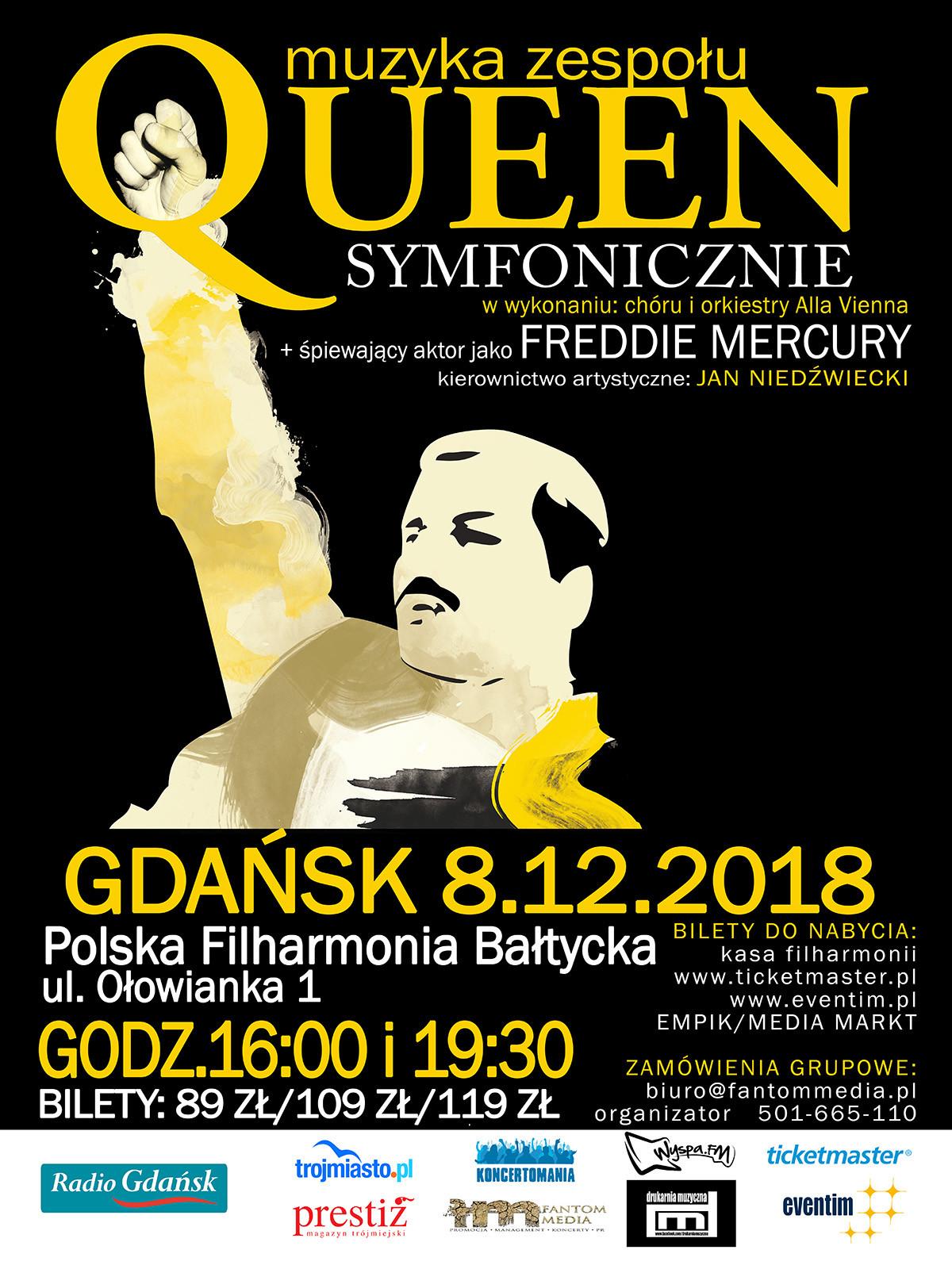 Queen симфонически. 2 концерта, 8 декабря, Гданьск