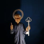 Prezentacja drewnianych marionetek z wileńskiego Teatru Łątek