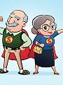 Babcia i dziadek na medal - rodzinne spotkanie