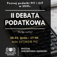 Debata podatkowa - Poznaj CIT i PIT