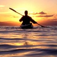Spływ Piaśnicą do morza, na zachód słońca