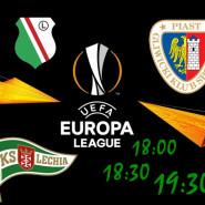 Lechia, Legia, Piast - mecze rewanżowe LE