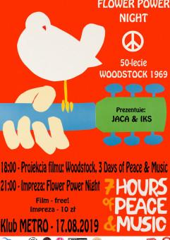 Flower Power Night: 50-lecie Festiwalu Woodstock 1969.