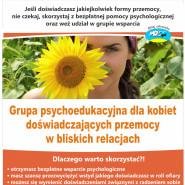 Grupa psychoedukacyjna dla kobiet doświadczających przemocy- nabór