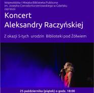 Koncert Aleksandry Raczyńskiej z okazji 5-tych urodzin Biblioteki pod Żółwiem!