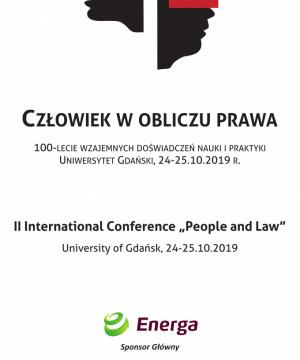 II Międzynarodowa Konferencja Naukowa - Człowiek w obliczu prawa