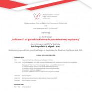 Konferencja Solidarność: od godności człowieka do ponadnarodowej współpracy
