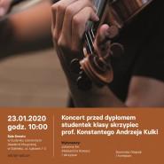 Koncert studentek klasy skrzypiec aMuz