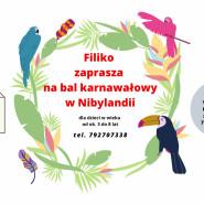 Bal karnawałowy w Nibylandii dla dzieci w wieku od ok. 3 do 8 lat.