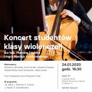 Koncert studentów klasy wiolonczeli aMuz