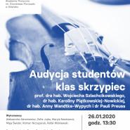 Audycja studentów klas skrzypiec aMuz