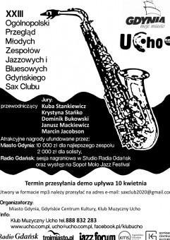 [odwołany] XXIII Ogólnopolski Przegląd Młodych Zespołów Jazzowych i Bluesowych Gdyńskiego Sax Clubu